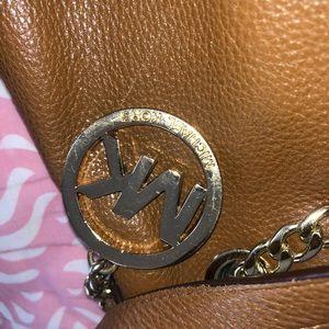 Michael Kota brown leather purse